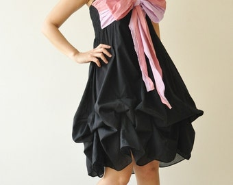 vary ...  Black-Pink Cocktail Dress