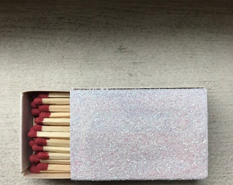 5 ct- Glittered Matchbooks