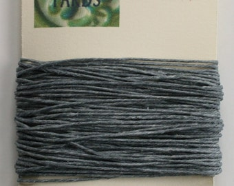 10 Yards Slate Grey 4 ply Irish Waxed Linen Thread