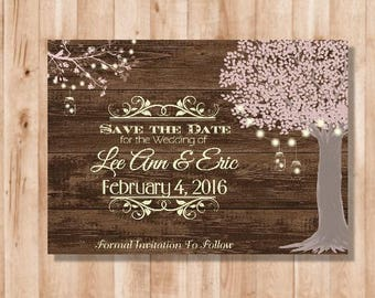 """Save the Date """"Rustic"""" DIY (Digital File Only!)"""