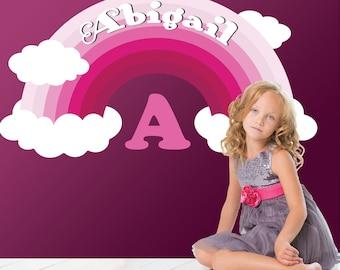 Nursery Wall decal - Rainbow Wall Decal -  Rainbow and clouds - Baby girl Room decor - Playroom decor - Toddler bedroom Rainbow - Baby Gift