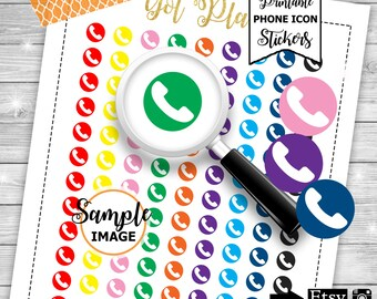 Phone Icons, Functional Planner Stickers, Stickers For Planners, Phone Planner Stickers, Icon Planner Stickers