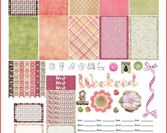 Burst into Spring Printable Stickers for The Happy Planner