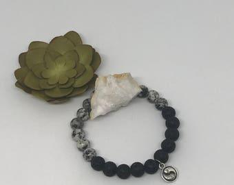 Yin Yang Diffuser Bracelet-Sesame Jasper