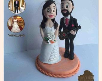 Wedding • Custom Figurine • Cake topper • Cold porcelain, clay