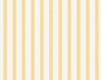 Sew Darling! - A287.2 - Lemon Ticking Stripe - from Lewis & Irene