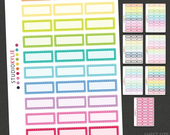 Planner Stickers -  Appointment Keepers with Border - Repositionable Matte Vinyl - Functional Stickers