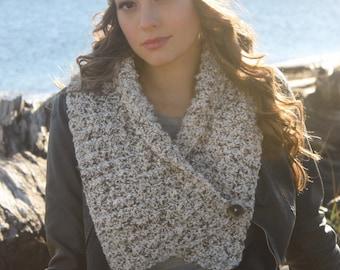 Crochet Scarf Pattern: 'Button Wrap Scarf', Crochet Headband, Crochet Boot Cuffs, Boho Crochet
