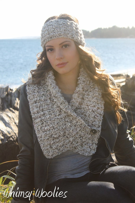 Crochet Scarf Pattern Button Wrap Scarf Crochet Headband