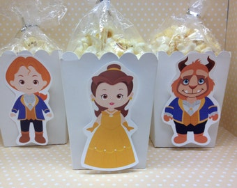 Beauty and The Beast Party Popcorn or Favor Boxes - Set of 10