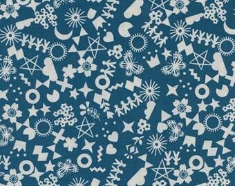 Cotton + Steel- Papercuts- Rashida Coleman Hale- Cut It Out in Teal