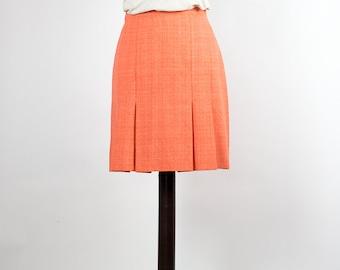 Vintage Skirt //Mini Skirt// Orange