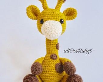 PDF Pattern altErMuligt's Baby Giraffe approximately 15cmk Dansk Opskrift på altermuligt.com