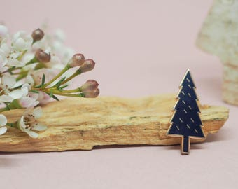 Pin tree, enamel pin nature, brooch, gold enamel pin, accessory and gift for women, pin's métal émail et or, bijoux, jewels, birthday gift