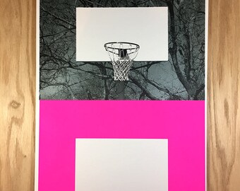 BOX SCORE Basketball Art Print