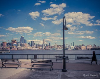 New York Photography, Empire State Building, Hoboken, Hoboken Waterfront, NYC Photo Print