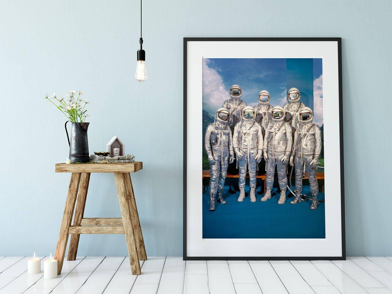 Astronauten Raum Kunst surreale Wand Kunst Druck