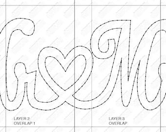 Mr & Mrs String Art Template