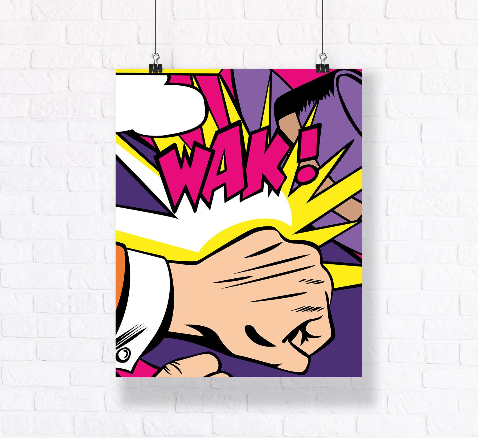Retro Comic Book Action Poster Customizable Wall Art