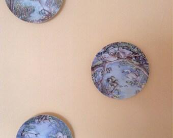 Collector's plates Ugly Duckling series 3 plates. Danish porcelain of Copenhagen.