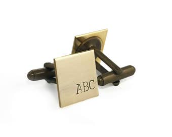 father in law gift, personalized brass cufflinks, christmas gifts for father in law, dad cuff links