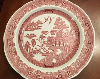 "Vintage ""Willow"" The Spode Archive Collection Georgian Series Dinner Plate - 10 Inch Made in England"