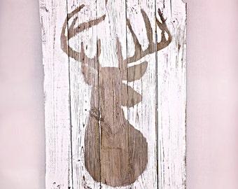 deer head rustic silhouette