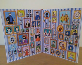 TINTIN Book Endpaper Portraits In Colour!