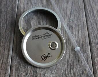 Mason Jar Deckel und Stroh / breiten Mund / / / BPA frei Stroh / / Mason Jar Tumbler Deckel