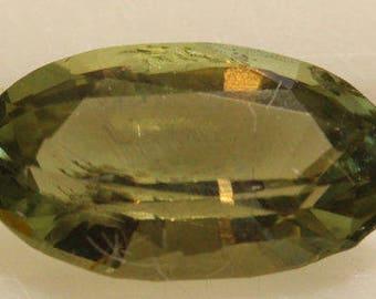 Fibrolite (Silimanite) 0.954cts Oval Cut 8.44X4.72mm Sri Lanka H6-7.5 Y9371 Green Gem Loose Faceted Gemstone Collector Gemology Gemological