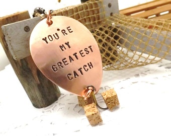 Fishing lure you're My Greatest Catch personalized custom fishing lure gift fishing  gift fisherman husband wedding