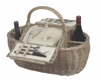 Boat Shaped Fitted Picnic Basket
