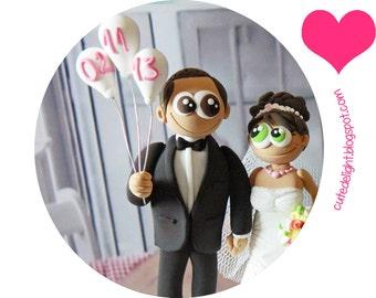 Wedding Cake Topper - CUSTOM wedding cake topper, FUNNY cake topper,baloons cake topper, wedding toppers,cake toppers wedding,