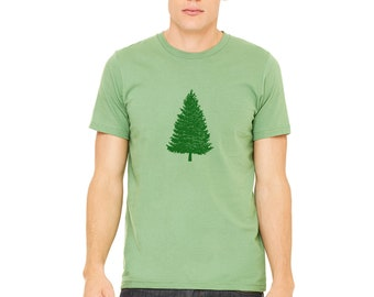 Pine Tree Tshirt, Unisex Shirt, Shirts For Men, Fathers Day Gift, Gifts For Men Nature Gifts For Dad, Christmas Tree Shirt, Wilderness Shirt