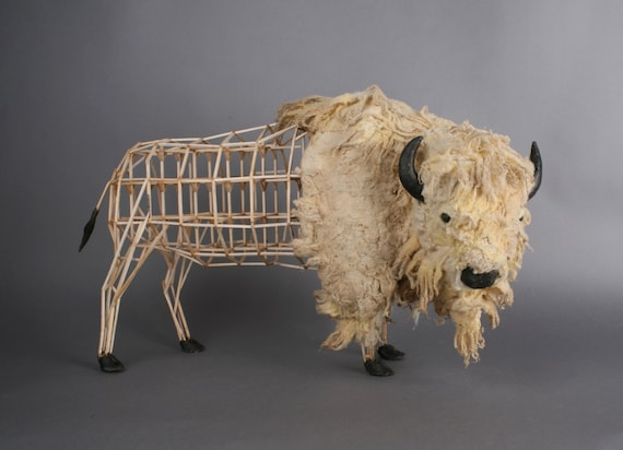 American Buffalo/Bison Model moquette sculpture