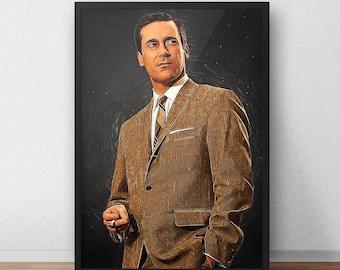 Don Draper - Don Draper print - Mad men - Mad men poster - TV Show - Series