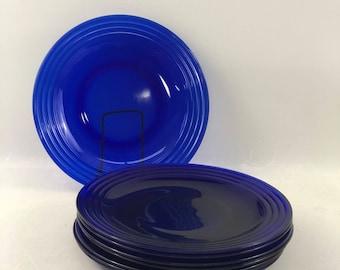 Cobalt Blue Dinner Plates Set of 8 & Cobalt blue plates   Etsy