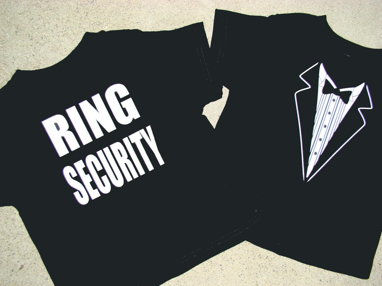 Ring Bearer Ring Security shirt Tuxedo RING SECURITY