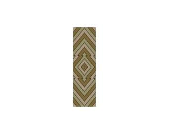 Arrowhead God's Eye Loom or 1 Drop Odd Peyote Cuff Bracelet Bead Pattern