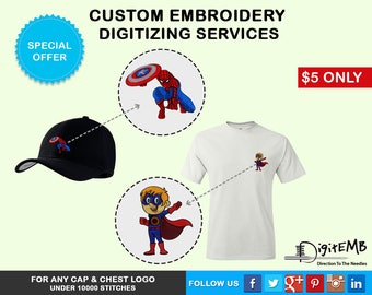 Custom Embroidery Digitizing Services