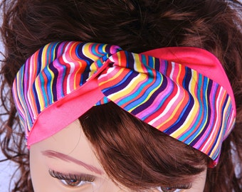 Turban Headband, Twisted Headband, Striped Headband, Women's Headband, Girl's Headband, Hair Accessories, AnnabelsAccessories, Mod Design