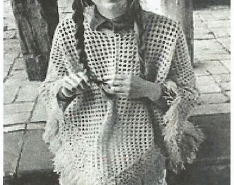 Instant Download - PDF-Lovely Lacy DK Poncho crochet Pattern (AD52)