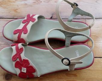 Vintage leather Camper sandals / sandalen / sandales / size US 9 UK 7,5 EUR 41 / 1980s