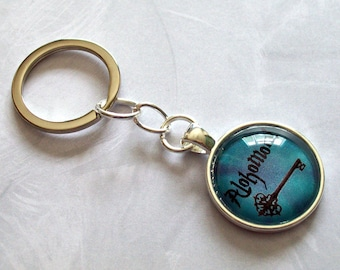 Harry Potter Keyring ~ Alohomora ~ Harry Potter Birthday Gift ~ Harry Potter Keychain ~ Gifts under 10 ~ Geeky Gift ~ Work Friend Gift