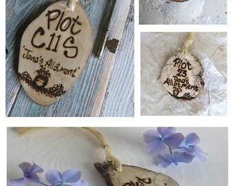 Allotment key fob *  Key ring * Key Fob * Allotment Sign * Personalised Key ring * Garden sign