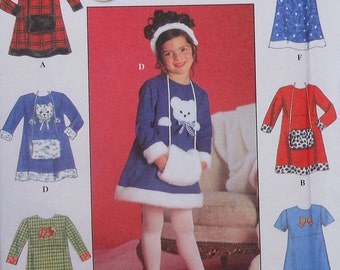 Girls Dress Sewing Pattern UNCUT Simplicity 7794 Sizes 5-6x