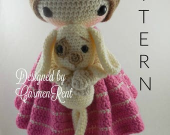 March and her Puppy- Amigurumi Doll Crochet Pattern PDF