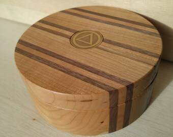 Cherry and Walnut Ring/Medallion Box