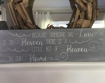 Little bit of Heaven in Home sign