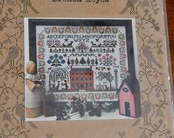 Red House Sampler by The Sampler Company designs by Brenda Keyes